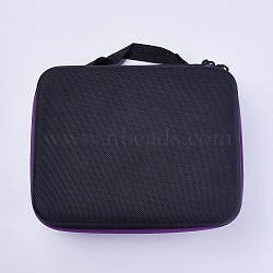 Nylon Portable Essential Oil Storage Bag, 30 Compartments, Rectangle, Black, 21.6x17x7.9cm(AJEW-WH0086-01)