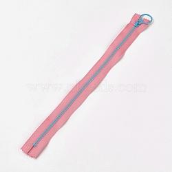 аксессуары для одежды, нейлон и смола закрытой молнией, застежка-молния, розовый, 33.3~33.5x2.8x0.2 cm(FIND-WH0028-04-A06)