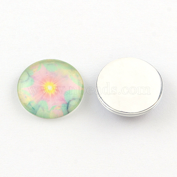 Half Round/Dome Pattern Glass Flatback Cabochons for DIY Projects, Violet, 10x3.5mm(GGLA-Q037-10mm-19C)