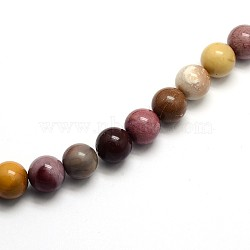 """Pierres gemmes de Mookaite rondes et naturelles , 8mm, trou: 1mm; environ 45 pcs/chapelet, 15""""(G-O047-12-8mm)"""