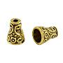 Apetalous Alloy Bead Cone, Tibetan Style, Cadmium Free & Lead Free , Antique Golden, 10x7.5mm, Hole: 2~5.5mm