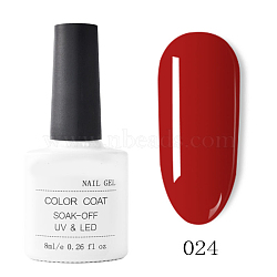 Gel de couleur de peinture à ongles, gel uv de couleur pure, pour la conception d'art d'ongle, brun, 7.2x3.2cm; 8 ml / bouteille(MRMJ-T009-029-24)