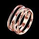Fantastic Hollow Titanium Steel Criss Cross Wide Band Rings(RJEW-BB15800-6RG)-2
