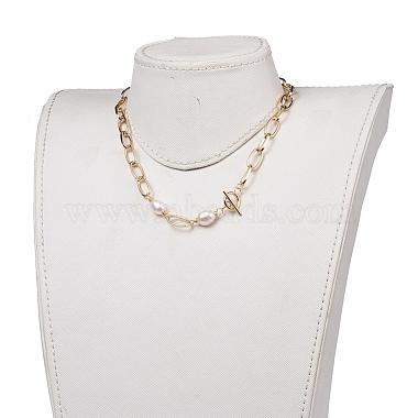 Aluminium Paperclip Chain Necklaces(X-NJEW-JN02865)-4