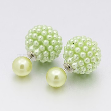 YellowGreen Acrylic Stud Earrings