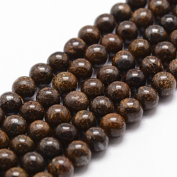 Natural Bronzite Bead Strands, Round, 10mm, Hole: 1mm,  about 38pcs/strand, 14.9 inches~15.1 inches(G-D840-57-10mm)