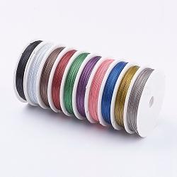 Fil queue de tigre, acier revêtu de nylon, fils en aciers inoxydables, couleur mélangée, 0.45 mm; 50 m / rouleau(L0.45MM)