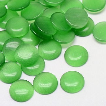 20mm MediumSeaGreen Half Round Glass Cabochons
