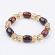 Natural Agate and Glass Stretch Bracelets(BJEW-K150-02)-1