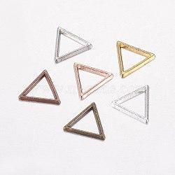Anneaux connecteurs en alliage, triangle, couleur mixte, 10x11.5x1mm, Trou: 7x7.5mm(PALLOY-E446-07)