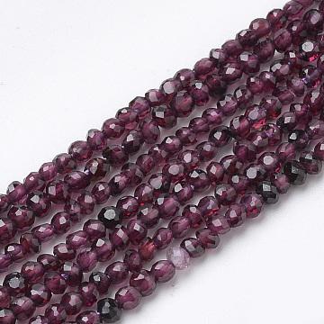 3mm Rondelle Garnet Beads