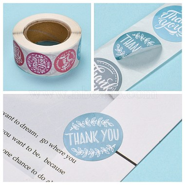 Thank You Self-Adhesive Paper Gift Tag Stickers(X-DIY-E027-A-01)-4