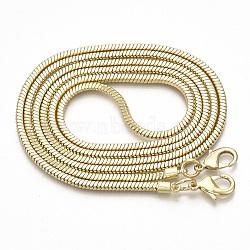 Chaînes de sangle de sac, chaînes de serpent d'airain, avec fermoir pince de homard, or clair, 114.5x0.32x0.32 cm(MAK-T006-07)