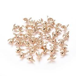 pendentifs en laiton, pour perles percées au hali, coccinelle, véritable plaqué or, 8.5x6.5x2 mm, trou: 0.8 mm(KK-CLWX06-20)