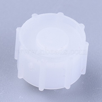 Plastic Stopper, Dispensing Industrial Syringe Barrel Tip Caps, Clear, 12.5x10mm(TOOL-WH0103-06A)