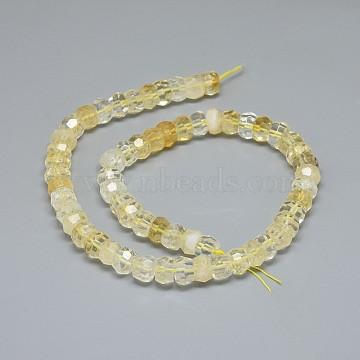 8mm Rondelle Citrine Beads