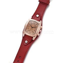 наручные часы высокого качества, кварцевые часы, Головка из сплава и ремешок из искусственной кожи, Darkred, 9-1 / 2 / 9-7 8 см); (24.1~25.1 мм; головка часов: 19~20x3 мм(WACH-I017-10E)