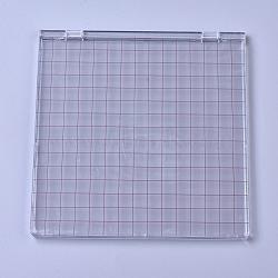 outil d'estampage acrylique bricolage, emboutissage de positionnement parfait, avec des tampons transparents scrapbook artisanat, pour la fabrication de cartes scrapbooking, effacer, 157x151x7 mm(AJEW-WH0105-98)