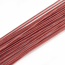 Iron Wire, Floral Wire,  for Florist Flower Arrangement, Bouquet Stem Warpping and DIY Craft, FireBrick, 20 Gauge, 0.8mm; 40cm/strand; 100strand/bag(MW-S002-03C-0.8mm)