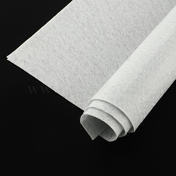 Non Woven Fabric Embroidery Needle Felt for DIY Crafts, Square, WhiteSmoke, 298~300x298~300x1mm(X-DIY-Q007-10)