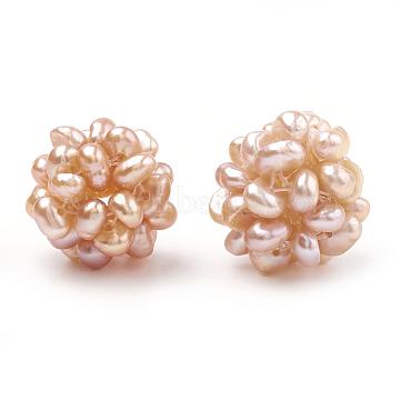 14mm PeachPuff Round Pearl Beads
