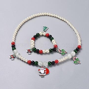 Mixed Color Glass Bracelets & Necklaces