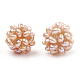 Handmade Natural Pearl Woven Beads(WOVE-S116-01B)-1