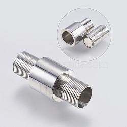 Fermoirs magnétiques en 304 acier inoxydable, colonne, couleur inoxydable, 24x10mm, Trou: 6mm(STAS-O114-017P)