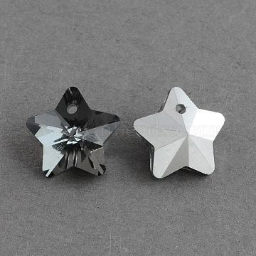 Gray Star Glass Charms