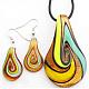 Handmade Gold Sand Lampwork Jewelry Set(X-LAMP-C1110-5)-1