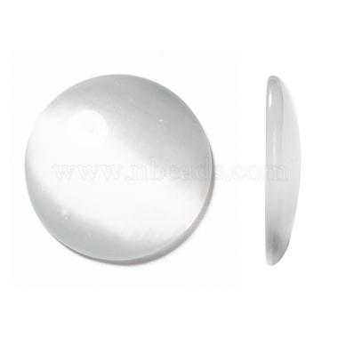 25mm White Half Round Glass Cabochons