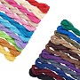 1mm Mixed Color Waxed Polyester Cord Thread & Cord(YC-PH0002-19)