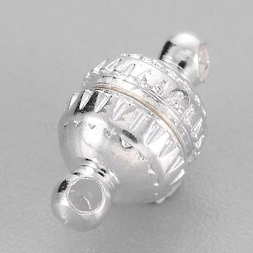 Silver Round Brass Clasps