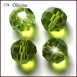 Perles d'imitation cristal autrichien, grade AAA, facette, rond, 'Chartreuse , 6mm, Trou: 0.7~0.9mm(SWAR-F021-6mm-252)