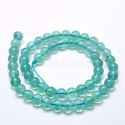 "Naturelles fluorite bleue brins de perles, Grade a, rond, 8mm, trou: 1mm; environ 48 pcs/chapelet, 15.7""(G-E112-8mm-2)"