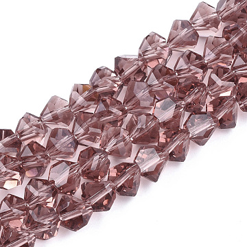 9mm PaleVioletRed Others Glass Beads