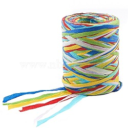 Paper Cords String, for Jewelry Making, Colorful, 4mm, about 87.48 yards(80m)/roll(OCOR-WH0044-02A)