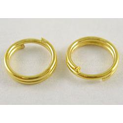 железные разрезные кольца, высокое качество, никель свободный, золотой, 4x1.4 мм; внутренний диаметр около 3.3 мм; одинарный провод: 0.7 мм; около 400 шт. / 20 г(X-JRD4MM-01G-NF)