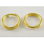 Golden Ring Iron Split Rings(X-JRD4MM-01G-NF)