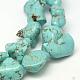 Chips Natural Howlite Beads Strands(G-N0131-11)-4