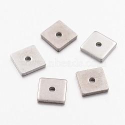 304 из нержавеющей стали шарик прокладки, квадратный, цвет нержавеющей стали, 6x6x1 мм, отверстие : 0.5 мм(STAS-G130-29P)