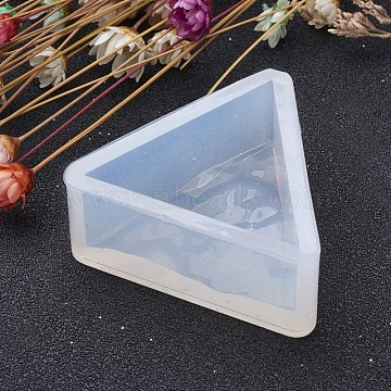 Triangle Shape DIY Silicone Molds, Resin Casting Molds, For UV Resin, Epoxy Resin Jewelry Making, Clear, 35x39x16.5mm; Inner Size: 28mm(X-AJEW-P036-06)