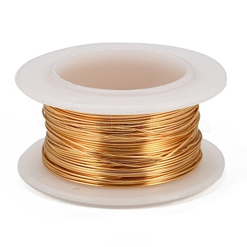 Copper Jewelry Wire, Lead Free & Cadmium Free & Nickel Free, Long-Lasting Plated, with Spool, Golden, 0.3mm, about 32.8 Feet(10m)/roll(X-CWIR-I002-0.3mm-G-NR)