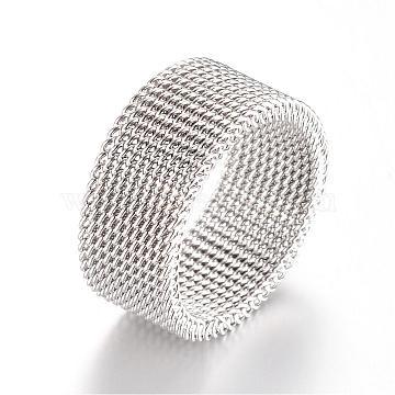 304 Stainless Steel Finger Ring Settings, Stainless Steel Color, 17mm(MAK-R010-17mm)
