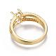 Environmental Brass Finger Ring Components(MAK-F030-10G-NR)-3