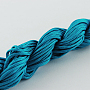Nylon Thread, Nylon Jewelry Cord for Custom Woven Bracelets Making, Dark Cyan, 1mm; about 24m/bundle, 10bundles/bag, 240m/bag