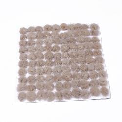 Décoration de boule de fourrure de vison faux, boule de pom pom, pour bricolage, tan, 2.5~3cm; environ 100pcs / board(FIND-S267-3cm-10)