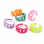 Mixed Color Brass Finger Rings(RJEW-S045-098-NR)