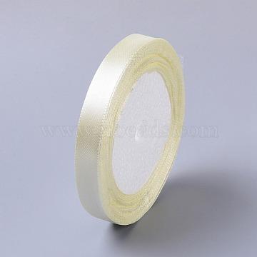 1/2inch(12mm) Beige Satin Ribbon Wedding Sewing DIY, 25yards/roll(22.86m/roll)(X-RC12mmY002)