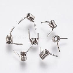304 découvertes de fils à ardillon en acier inoxydable, pour la fabrication de bracelets barbelés, couleur inox, 3.5x3 mm(STAS-P196-24)